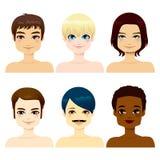 Multiethnische gutaussehende Männer Stockfotos