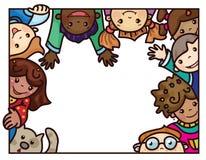Multiethnische Kinder des Vektors Lizenzfreie Stockfotos
