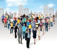 Multiethnische Leute in den Massenzahlen Stockfotografie
