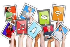 Multiethnische Leute-und Social Networking-Konzepte lizenzfreie abbildung
