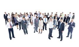 Multietniskt av affärsfolk som uttrycker Positivity arkivbilder