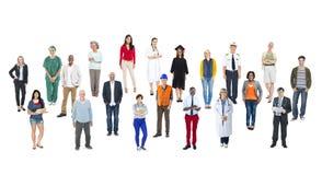 Multietniskt folk med olika jobb royaltyfri bild