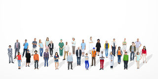 Multietniskt folk med olika jobb arkivfoton