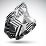 Multifaceted asymetryczna kontrast postać z równoległymi liniami Obraz Royalty Free