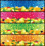 Multifruit Banners Stock Photos