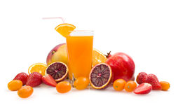 Multifruit juice. With tropical fruits Royalty Free Stock Photography