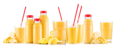 Free Multifruit Smoothie In Many Kinds Of Glasses And Bottles Royalty Free Stock Image - 81769456