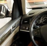 Multifunction design och styrning för styrninghjul Arkivfoto