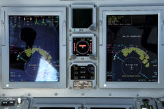 Multifunction flight displays Royalty Free Stock Photo