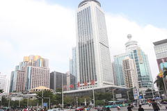 Multifunction high-rise modern buildings in SHENZHEN Stock Photo