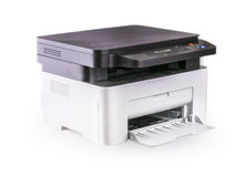 Multifunction printer isolated on white Royalty Free Stock Images