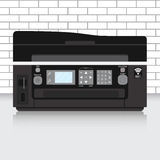 Multifunction printer in modern office with brick wall Stock Photography