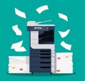 Multifunction skrivarbildläsare för kontor stock illustrationer