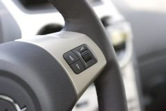 Multifunction steering wheel. Stock Photo