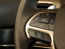 Multifunction steering wheel design and controls Royalty Free Stock Photos