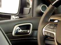 Multifunction steering wheel design and controls Stock Image