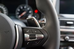 Multifunction steering wheel Stock Photography