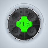 Multifunctional car clima control. With green lcd Royalty Free Stock Photography