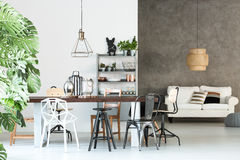 Multifunctional loft with dining room Royalty Free Stock Photo