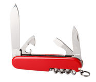 Multifunctional red swiss knife Royalty Free Stock Images