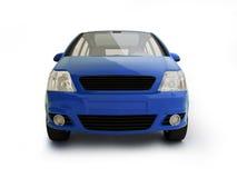 Multifunctioneel blauw voertuig vooraanzicht Stock Foto