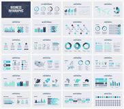Multifunctioneel infographic presentatie vectormalplaatje Royalty-vrije Stock Foto