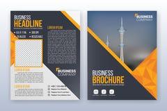Multifunctioneel modern bedrijfsdekking en vliegermalplaatje Stock Afbeeldingen