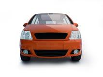 Multifunctioneel rood voertuig vooraanzicht Royalty-vrije Stock Foto's
