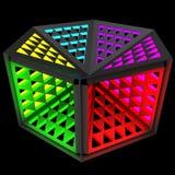 Multifunctionele economische nachtlamp Modulair systeem van transformatie 3D Illustratie Stock Afbeeldingen