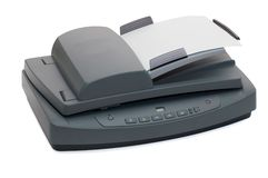 Multifunctionele flatbed scanner Stock Afbeelding