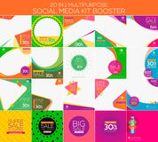 Multifunctionele sociale media uitrustingsspanningsverhoger vector illustratie
