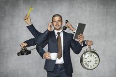 Multifunctionele zakenman stock fotografie