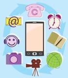 Multifunzionalità del telefono Immagini Stock