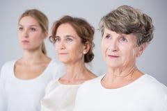 Multigeneration family girls Stock Image