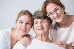 Multigenerational family spending time together Stock Images
