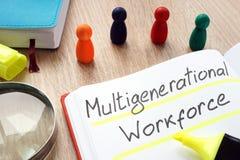 Multigenerational workforce written by pen stock photography