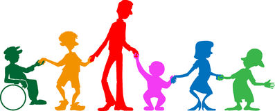 Multigenerationele familie Royalty-vrije Stock Afbeeldingen