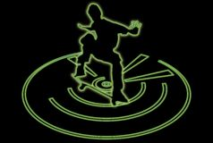 Multiglow Skateboarder Royalty Free Stock Photography