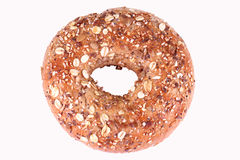 Multigrain Bagel. On white background Stock Images