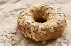 Multigrain bagel Royalty Free Stock Image