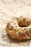 Multigrain bagel Royalty Free Stock Photo