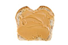 Multigrain Bread and Peanut Butter Stock Photo
