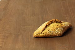 Multigrain bread. On wooden background Royalty Free Stock Photography