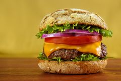 Multigrain bun burger Stock Photo