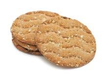Multigrain crispbread, isolated Stock Images