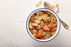 Multigrain healthy cereals with fresh berry Stock Photo
