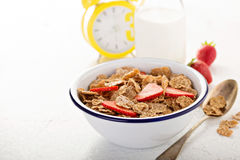 Multigrain healthy cereals with fresh berry Stock Images