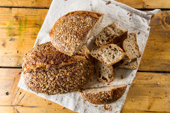 Multigrain loaves of bread Stock Image
