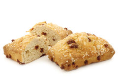 Multigrain Quark Bread with chocolate chips and a cut one Stock Photo