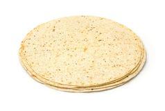 Multigrain tortillas z otręby i lnem fotografia stock